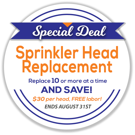 sprinkler head replacement special