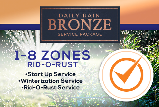 1-8 Zone Bronze Service Package WITH RID-O-RUST