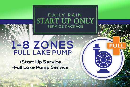 1-8 Zone Start Up Only WITH LAKE PUMP Service