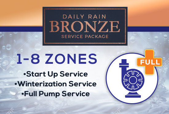 1-8 Zone Bronze Service Package WITH FULL LAKE PUMP