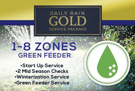 1-8 Zone Gold Service Package WITH GREEN FEEDER