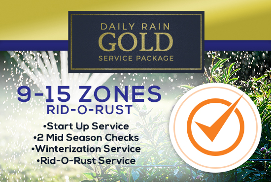 9-15 Zone Gold Service Package WITH RID-O-RUST