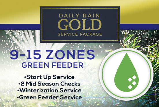 9-15 Zone Gold Service Package WITH GREEN FEEDER