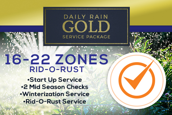 16-22 Zone Gold Service Package WITH RID-O-RUST