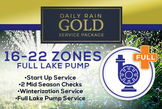 16-22 Zone Gold Service Package WITH FULL LAKE PUMP