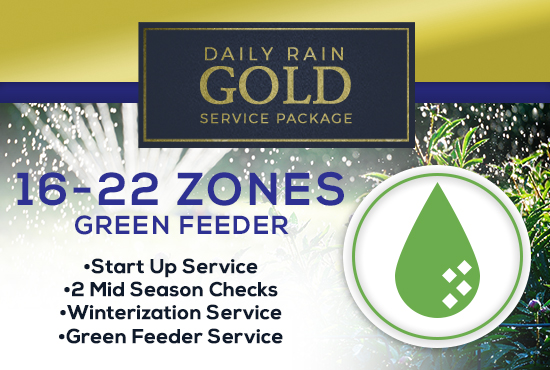 16-22 Zone Gold Service Package WITH GREEN FEEDER