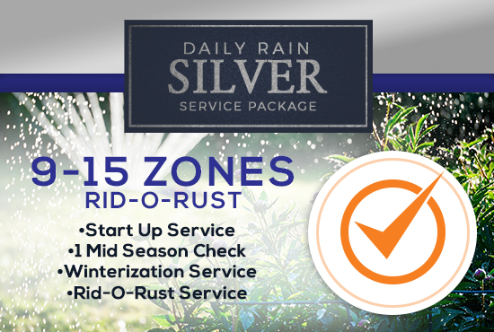 9-15 Zone Silver Service Package WITH RID-O-RUST
