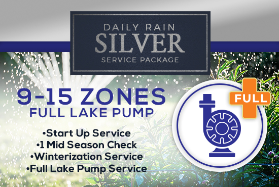 9-15 Zone Silver Service Package WITH FULL LAKE PUMP