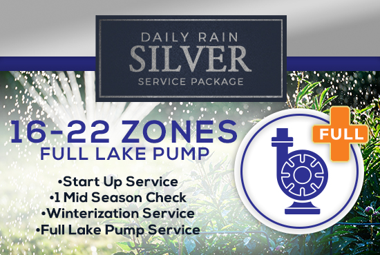 16-22 Zone Silver Service Package WITH FULL LAKE PUMP