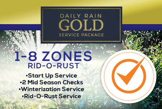 1-8 Zone Gold Service Package WITH RID-O-RUST