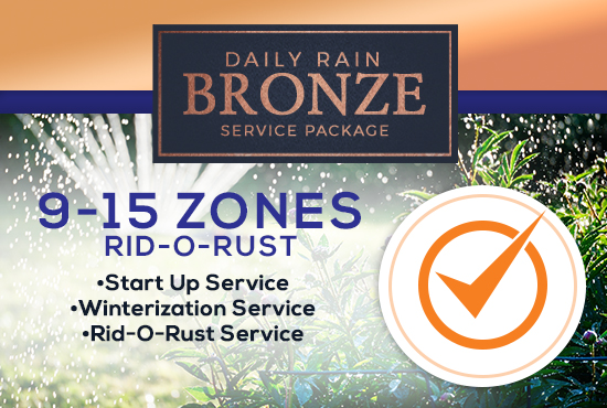 9-15 Zone Bronze Service Package WITH RID-O-RUST
