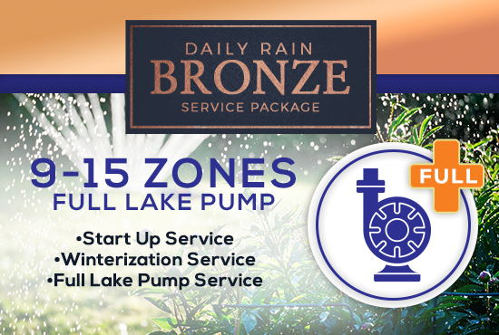 9-15 Zone Bronze Service Package WITH FULL LAKE PUMP