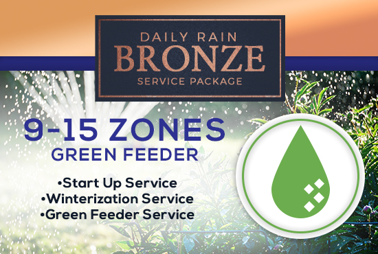 9-15 Zone Bronze Service Package WITH GREEN FEEDER
