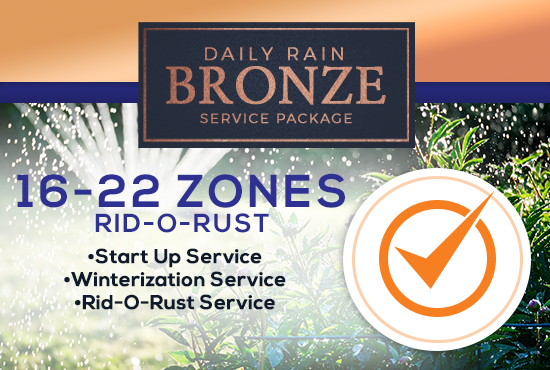 16-22 Zone Bronze Service Package WITH RID-O-RUST