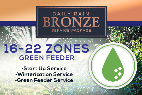 16-22 Zone Bronze Service Package WITH GREEN FEEDER