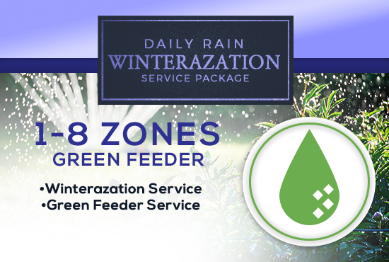 1-8 Zone Winterization Only (with GREEN FEEDER)