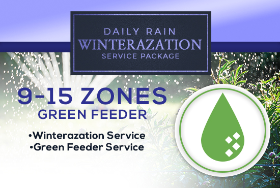 9-15 Zone Winterization Only (with GREEN FEEDER)